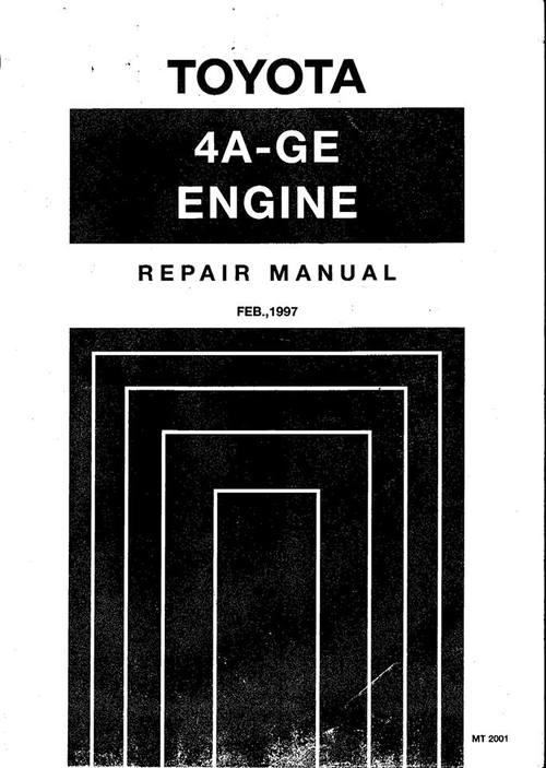 Product picture Toyota AE111 AE101 4AGE 20v Repair & Service Manual